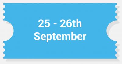 2 days - 25/26th September